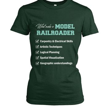 What make a model railroader shirt Women's Crew Tee
