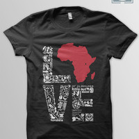 Guys LuvAfrique Tee (Red Map)