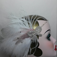 Charleston Flapper roaring 1920s Great Gatsby carnival ladies bridal wedding headband head dress headpiece, free shipment