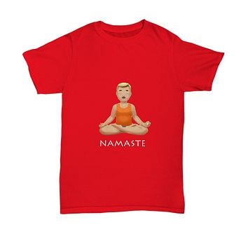 Namaste Meditation Breathe Pose Drinking T-Shirt