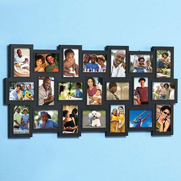 """Collage Frame Large Photo 21-4""""x 6"""" Pics Over 3 Feet Tall Vertical or Horizontal"""