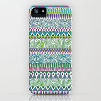 Tribal Spring iPhone Case by Janet Broxon