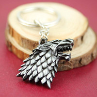 Game of Thrones House Stark Winter Is Coming Keychain