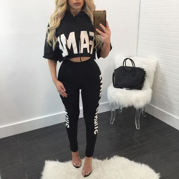 Women's Fame Stretch Two Piece Outfit