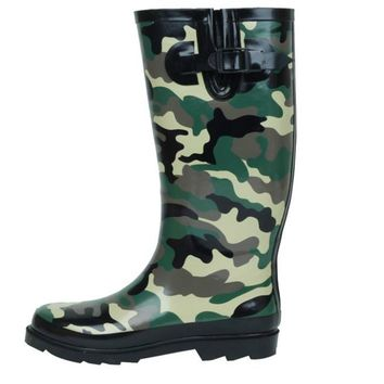 Ladies Camo Style Jelly Rain Boots
