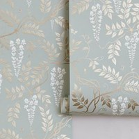 Egerton Wallpaper by Anthropologie in Sky Size: One Size Decor