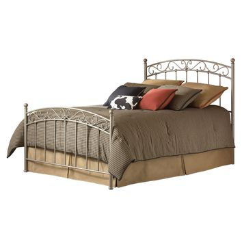 Twin size Metal Bed with Gentle Arch Headboard and Footboard