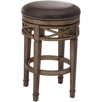 100663 Chesterfield Backless Swivel Stool - Free Shipping!