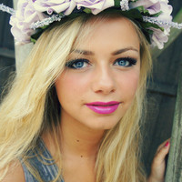 Lilac Rose Flower Crown with Lavender Large by FairyRingsShop