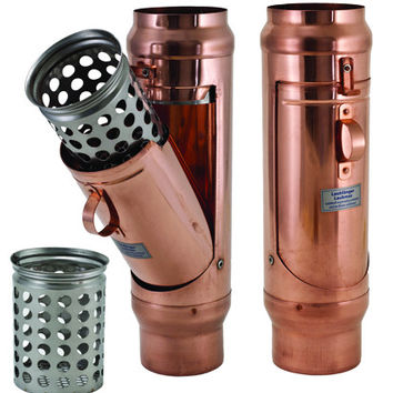 NEW COPPER INLINE CLEAN OUT WITH REMOVEABLE STAINLESS BASKET