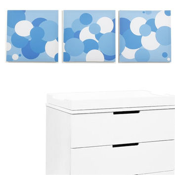 Sky Baby Boy Bubbles Canvas Print Set of 3
