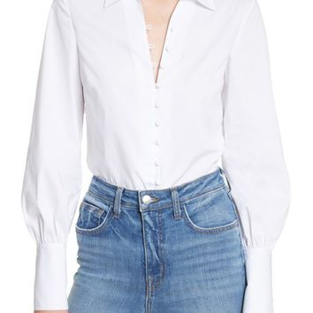 L'AGENCE Puff Sleeve Shirt | Nordstrom