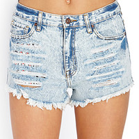 High-Waisted Acid Wash Cutoffs