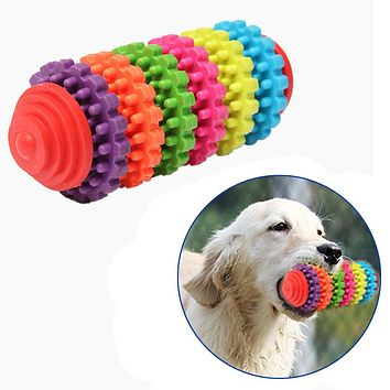 Colorful Rubber Pet Dog Puppy Dental Teething Healthy Teeth Gums Chew Toy Products For pet