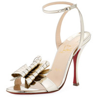 Christian Louboutin Miss Valois Metallic Red Sole Sandal