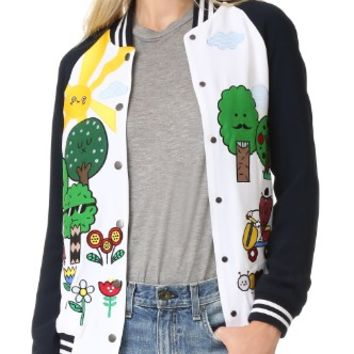 Happy Forest Bomber Jacket