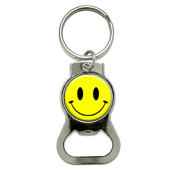 Smile Smiley Face Bottle Opener Keychain