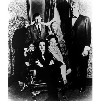 Addams Family Tv Bw Poster Standup 4inx6in