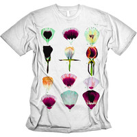 Iris Garden T-shirt Vintage Flower Graphic tee