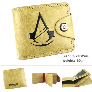 Assassins Creed Boys Girls Cartoon Pu Leather Small Wallet Bag Hasp Purse Card Holder Money Pocket Purses for Students