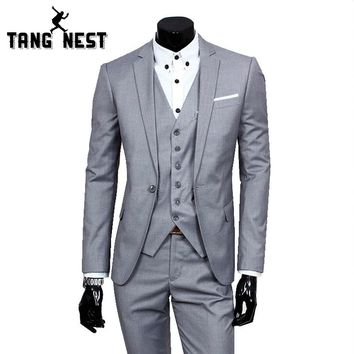 2017 Business Casual Suit Men Two Pieces Set Not Include Vest Professional Formal Groom Wedding Dress Beautiful Design MWX090