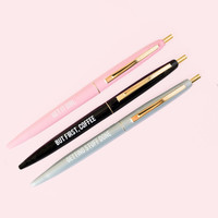 Motivational Pen Set in Pink, Black and Gray