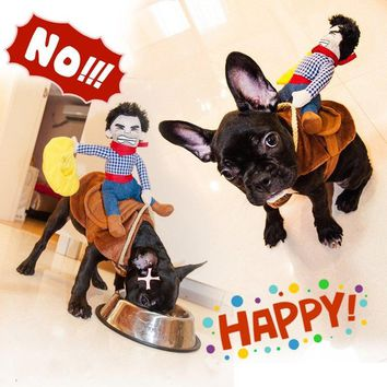 Funny  Costume  Cowboy  Novelty  Clothes  Riding  horse