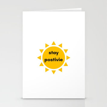 STAY POSITIVE SUNSHINE Stationery Cards by Love from Sophie
