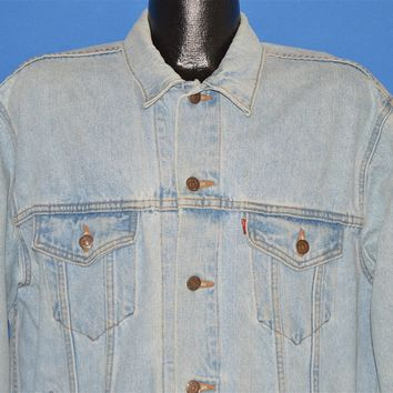 Vintage 90s Levis Trucker Light Wash Type 3 Denim Jacket Large