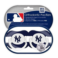 New York Yankees 2pk Baby Pacifier - Striped