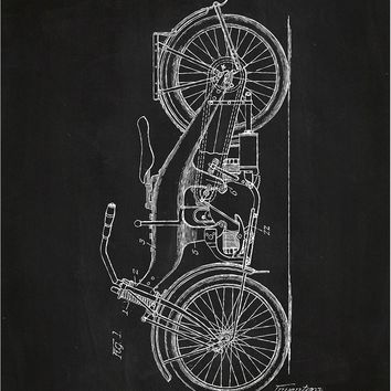 Harley Davidson Motorcycle - W.S. Harley - 1924