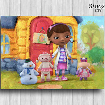 doc mcstuffins decor disney print kids gift nursery wall art