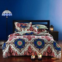 Seattle Bohemian Style Duvet Covers Bedding Sheet Set Full Size Boho 4 Pieces