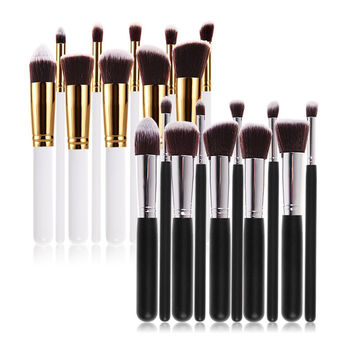 New 10Pcs Professional Cosmetic Makeup Tool Brush Brushes Set Powder Eyeshadow Cosmetic Set
