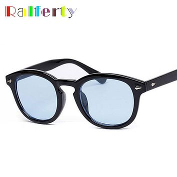 Ralferty Vintage Johnny Depp Sun Glasses Frame Retro Brand Oliver Peoples Sunglasses Men Women Transparent Goggles Candy Eyewear
