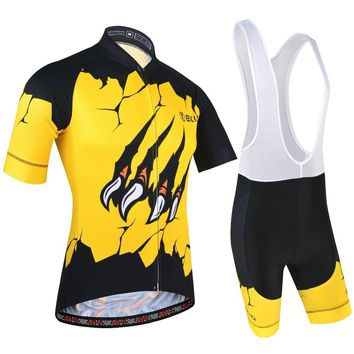 BXIO Men Cycling Jersey Sets Summer Cool Cycling Clothing with Bib Shorts Outdoor Sportswear Champion Road Bicycle Jerseys 188