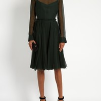 Sigaline silk-organza pleated-waist dress | Rochas | MATCHESFASHION.COM US