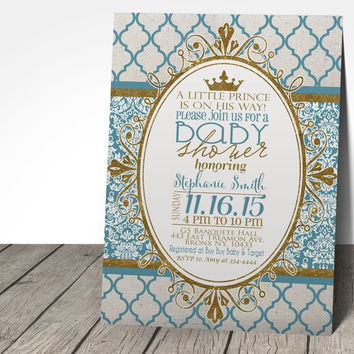 Royal Prince Baby Shower Invitation