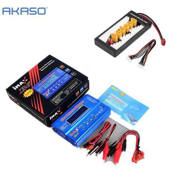 DCCK1IN akaso new imax b6 lcd screen digital rc lipo nimh battery balance charger b6ac lipo charging xt60 t plug adaptor board 2 6s