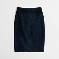 Factory pencil skirt in denim