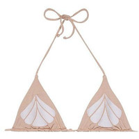 Aries reversible top in nude/white shell