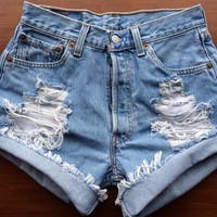 Size 4 Levi's High Waisted Jean Shorts