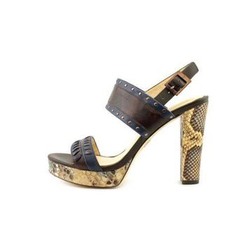 Vince Camuto Signature Vera Women's~ Brown/Snake/Navy Leather~ Dress Sandals
