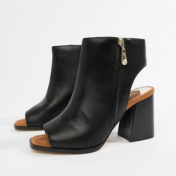 River Island wide fit block heel shoe boot in black at asos.com