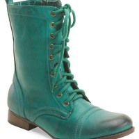 Faux Leather Combat Boot