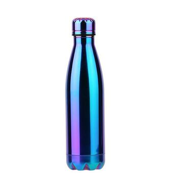 Family Friends party Board game HOMMINI 500ml Double Wall Outdoor Travel Water Bottle Bowling Shaped Stainless Steel Coke Bottle Vacuum Insulation Flasks AT_41_3