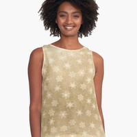 'Snowflakes' Contrast Tank by KandM