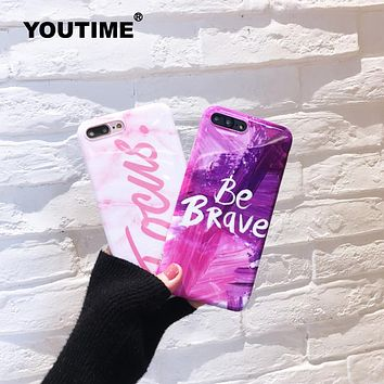 YOUTIME Victoria Pink Purple Ink Phone Case Secret For iPhone 6 6s Plus Girl for iphone 7 plus silicone cover focus popular TPU