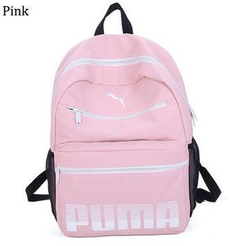 PUMA 2018 new sports and leisure backpack backpack bag travel bag Pink