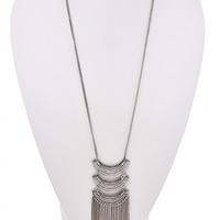 Hard Hitting Necklace: Antique Silver